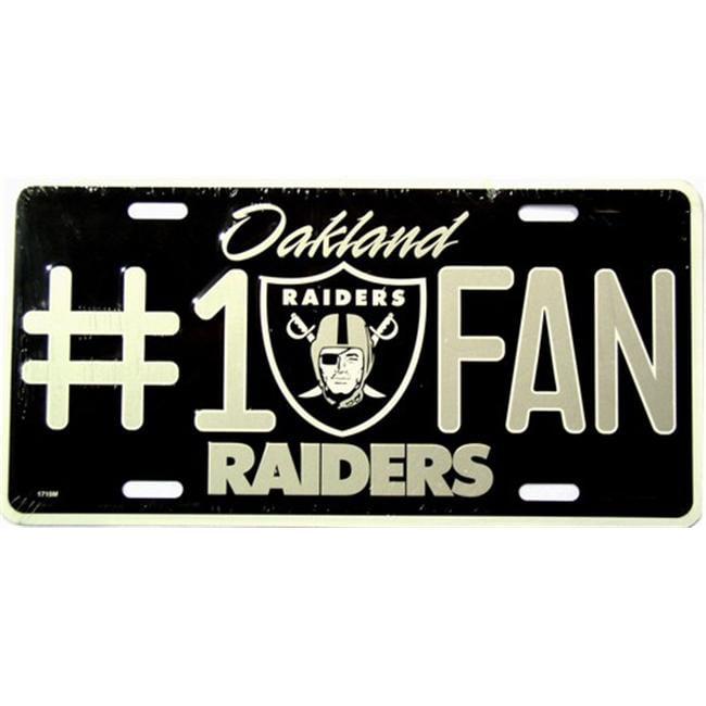 LP - 722 Raiders No. 1 Fan License Plate - 1710M