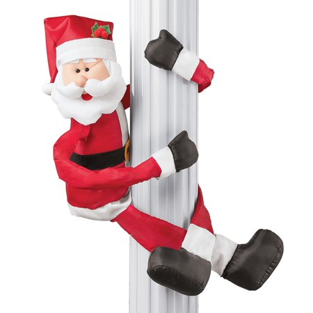 Santa Claus Outdoor or Indoor Plush Huggers Christmas Decoration ()