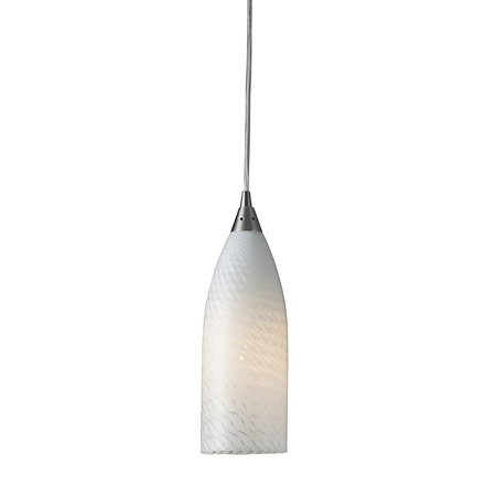 Cilindro 5-Light Mini Pendant in Satin Nickel with White Swirl Glass Red Satin Nickel Three Light