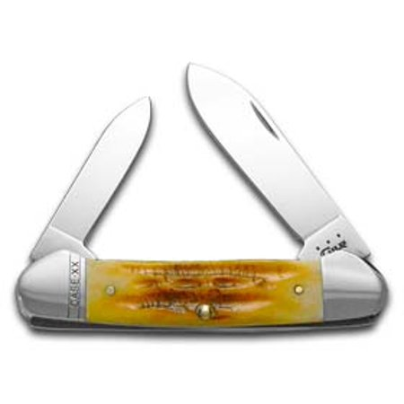 CASE XX Deep Canyon Goldenrod Bone Canoe Stainless Pocket Knife Knives
