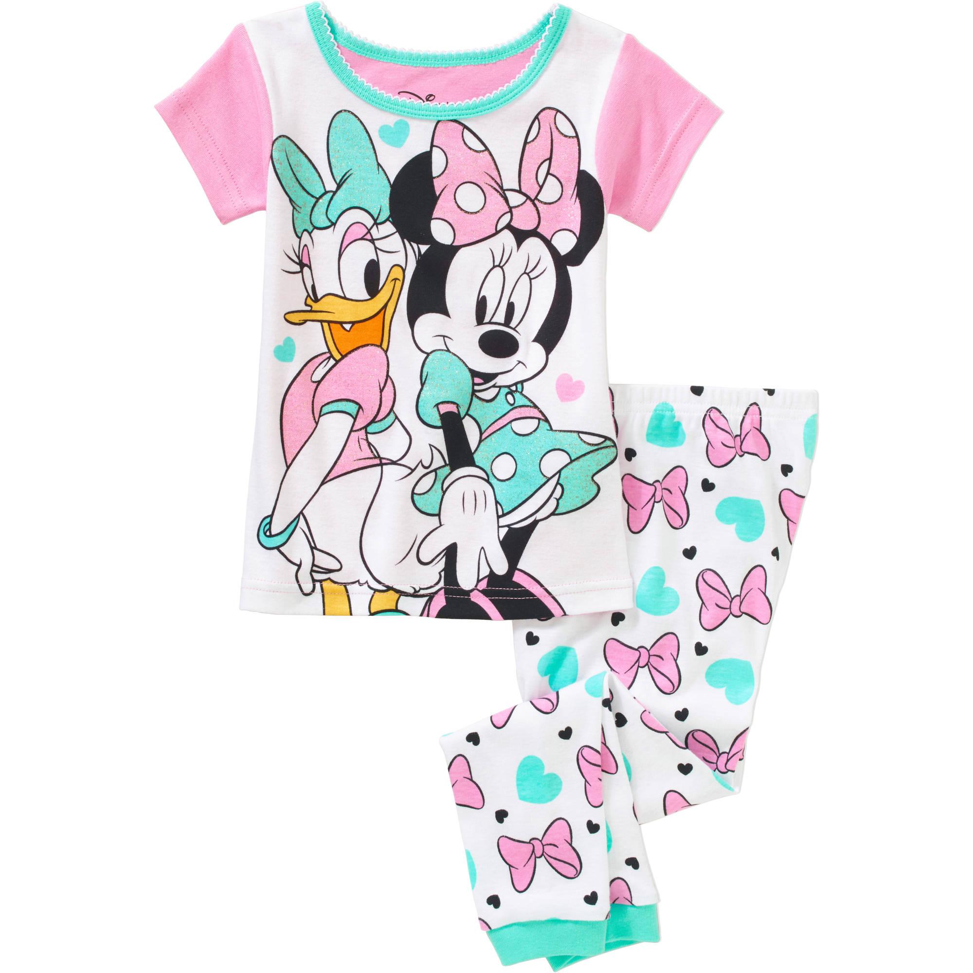 Minnie Toddler Girl Licensed Cotton Pajama Sleepwear Set