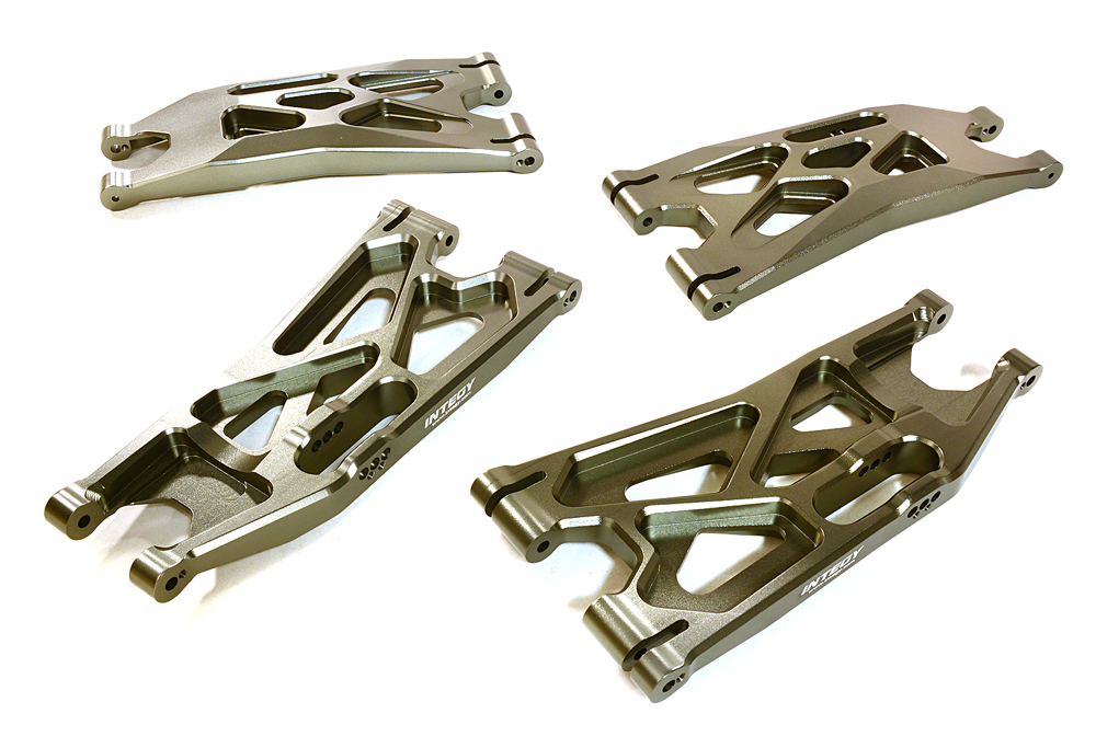 Integy RC Toy Model Hop-ups C27195GUN Billet Machined Lower Suspension Arms (4) for... by Integy