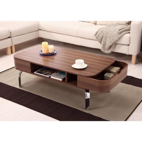 Modern Walnut Living Room Furniture furniture of america berkley mid-century modern walnut coffee table