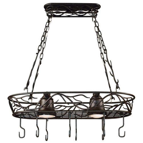 Kenroy Home Twigs 2-Light Pot Rack, Bronze