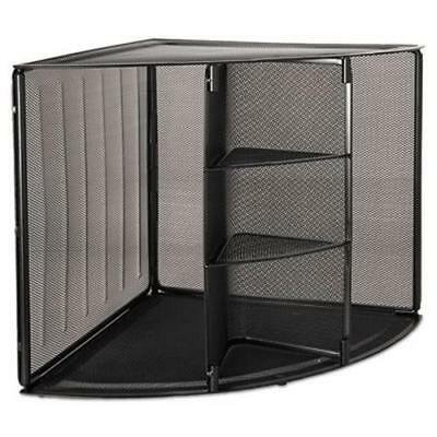 Rolodex Mesh Corner Desktop Shelf, Five Sections, 20 x 14 x 13, (Corner Section Top)