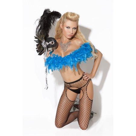 Vivace Black Diamond Net Suspender Pantyhose - Suspender Hose