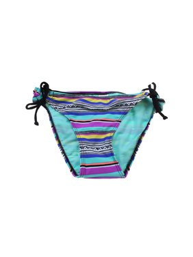 082574c022 Product Image Hula Honey Multi Printed Side-Tie Bikini Bottom XS