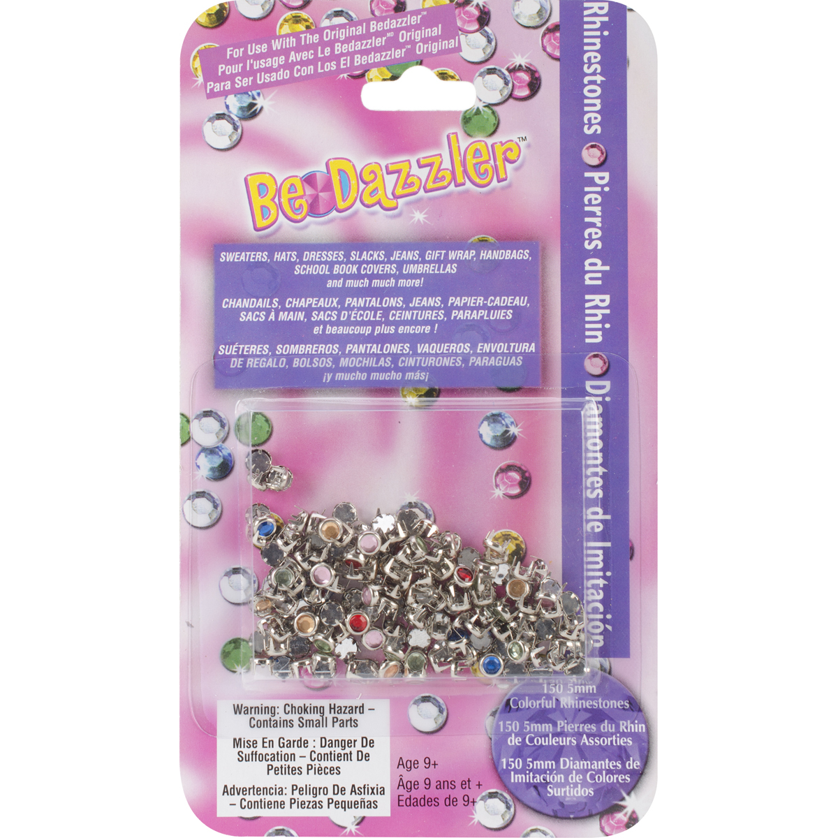 Be Dazzler Assorted Colors Rhinestone Refill 150/Pkg