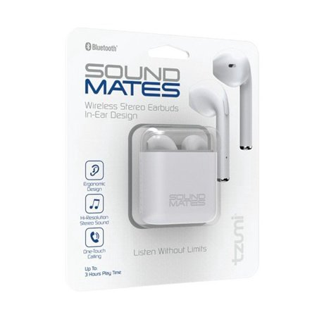 da31e4141e9 Refurbished Tzumi 5761WM Sound Mates Bluetooth Earbuds with Protective  Charging Case - Walmart.com