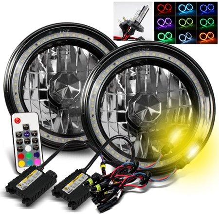 - ModifyStreet 3000K H4-2 HID + Hi-Power Remote Control Multi-Color SMD Halo Ring H6014/H6015/H6017/H6052/H6024 7