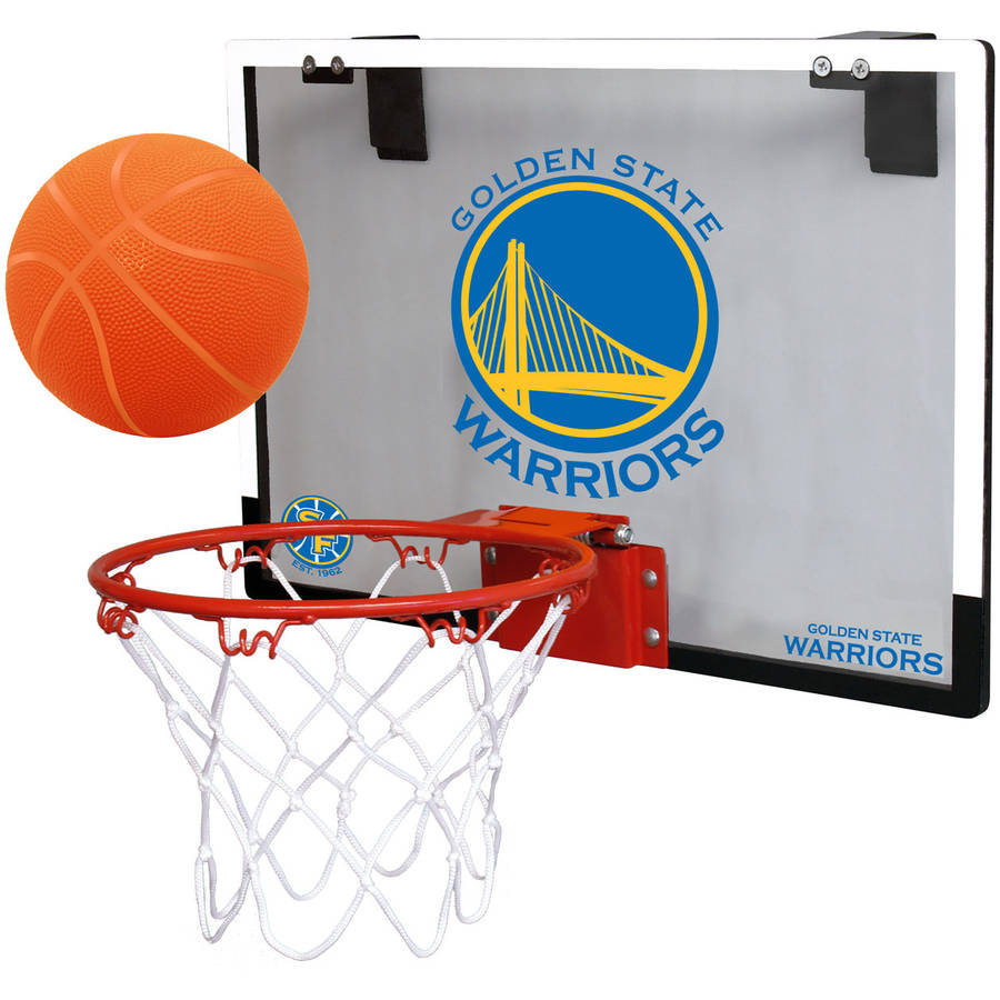 Rawlings NBA Game On Polycarb Hoop Set Golden State Warriors