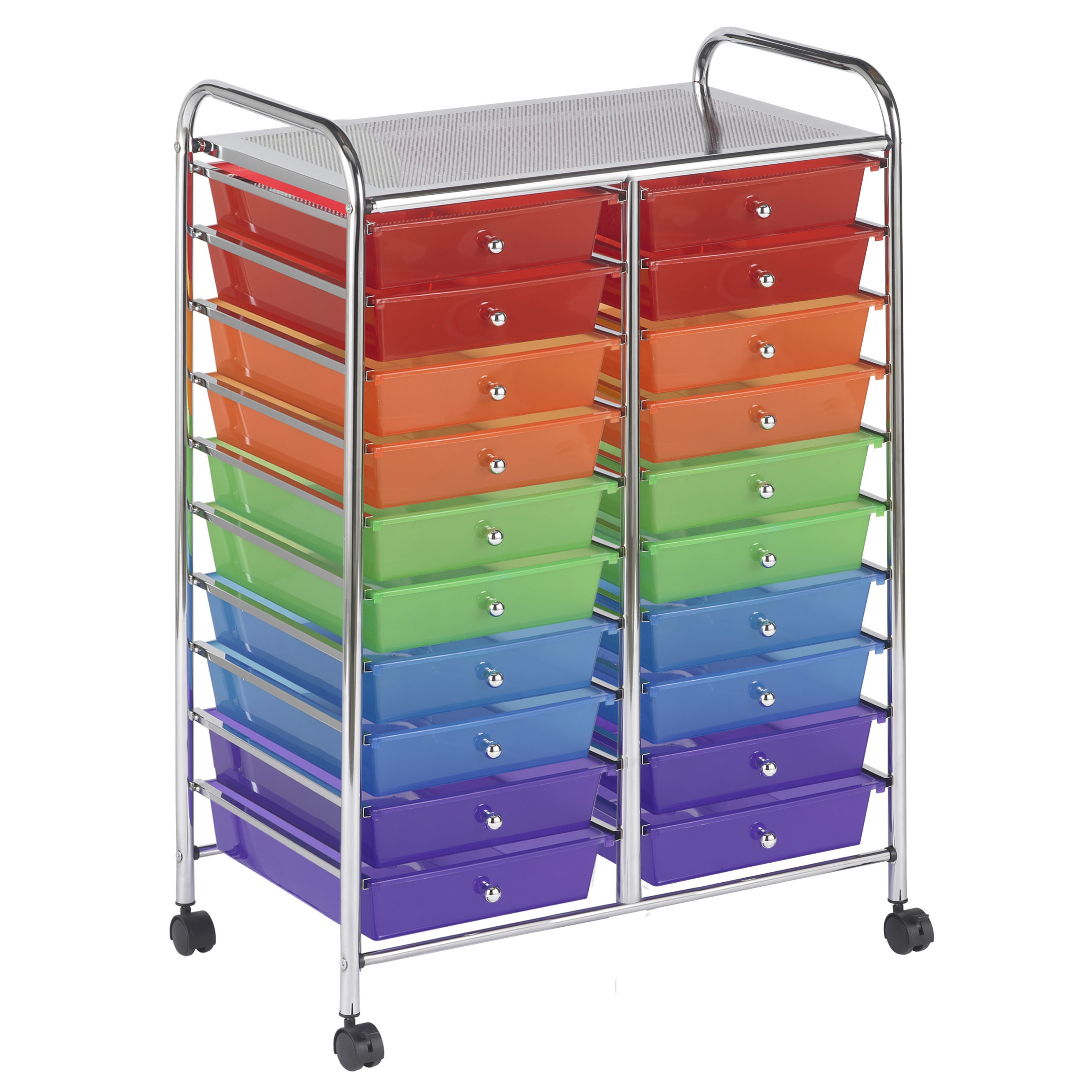 20 Drawer Mobile Organizer - Grayscale