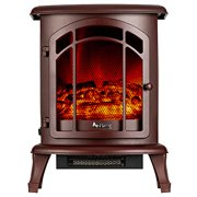 """e-Flame Tahoe 24"""" LED Portable Electric Fireplace - Rustic Red"""