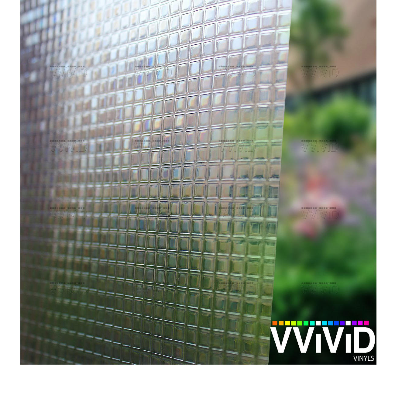 Cut Glass Squares Theme Privacy Window Decal Contact Paper Sticker Decorative Film Wrap VViViD - Choose Your Size