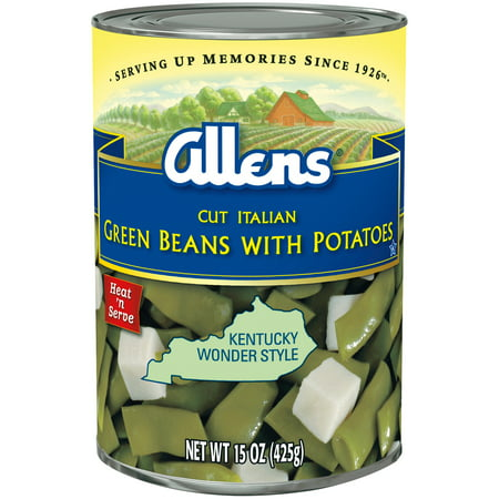 (6 Pack) Allens Cut Italian Green Beans with Potatoes, 15