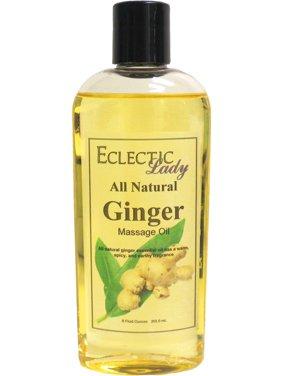 All Natural Ginger Massage Oil, 8 oz