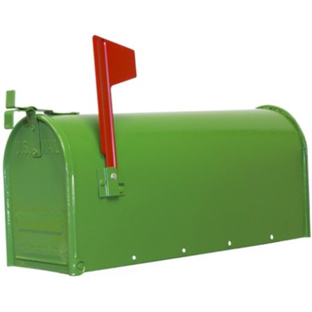 Part 1C-Grn Mailbox Green Rural, by Fulton Corp, Single Item, Great Value, New - Mailbox Parts