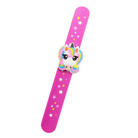 TURNTABLE LAB Cartoon Unicorn Slap Snap Wrap Wristband Flexible Band Bracelet Hand Ring Newest (Slap Bands)