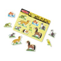 Melissa & Doug Pets Sound Puzzle 8 Pieces