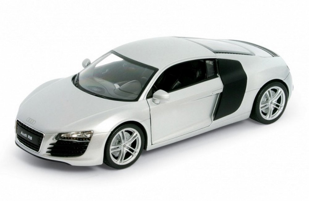 Good Audi R8, White   Welly 22493   1/24 Scale Diecast Model Toy Car