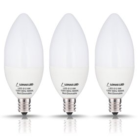 Led Candelabra Base Bulbs, 8W LED(75 Watt Equivalent), Daylight ...