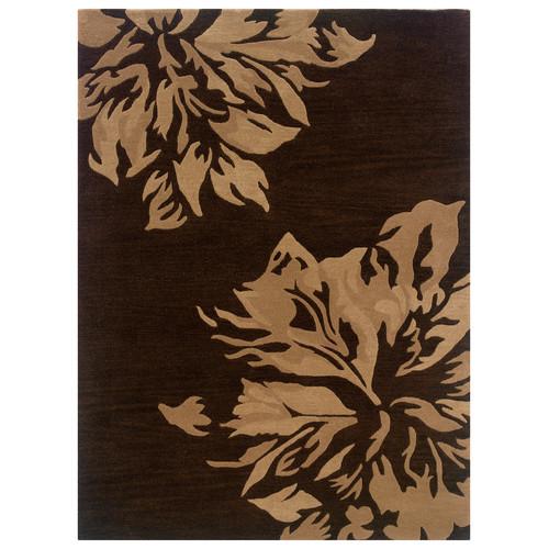 Linon Florence Chocolate/Sand Area Rug