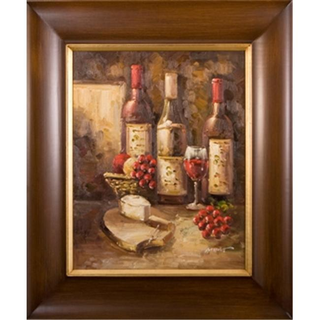 Artmasters Collection AC96374-LW54 Classic Wines II Framed Oil Painting - 35 x 31 Inch