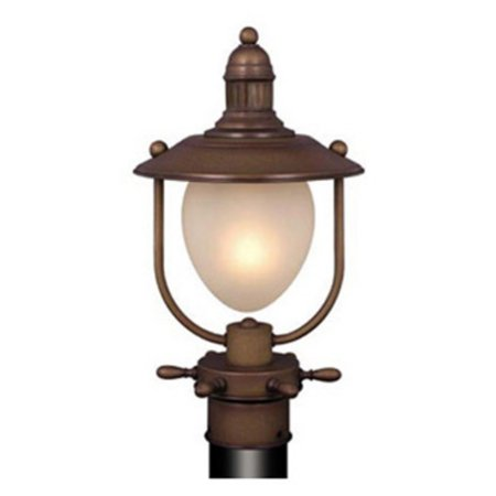 Vaxcel Orleans Outdoor Post Light - 8.5W in. Antique Red Copper