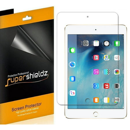 [3-Pack] Supershieldz for Apple iPad Mini 5 (2019) / iPad Mini 4 Screen Protector, Anti-Bubble High Definition (HD) Clear