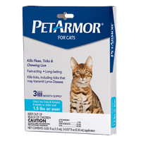 PetArmor Flea & Tick Prevention for Cats (Over 1.5 Pounds), 3 Treatments