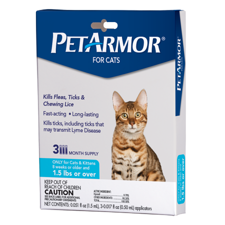 PetArmor Flea & Tick Prevention for Cats (Over 1.5 Pounds), 3 (Flea Medicine For Cats With Sensitive Skin)