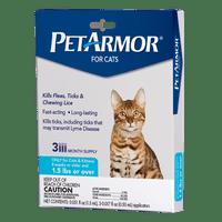 PetArmor Flea & Tick Prevention for Cats (Over 1.5 Pounds), 3 Treatments
