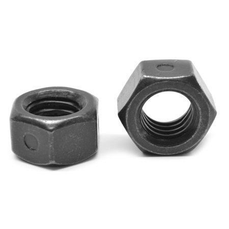 #10-32 Fine Thread Reversible 2-Way All Metal Locknut Low Carbon Steel  Black Zinc Plated/Wax Pk 4000