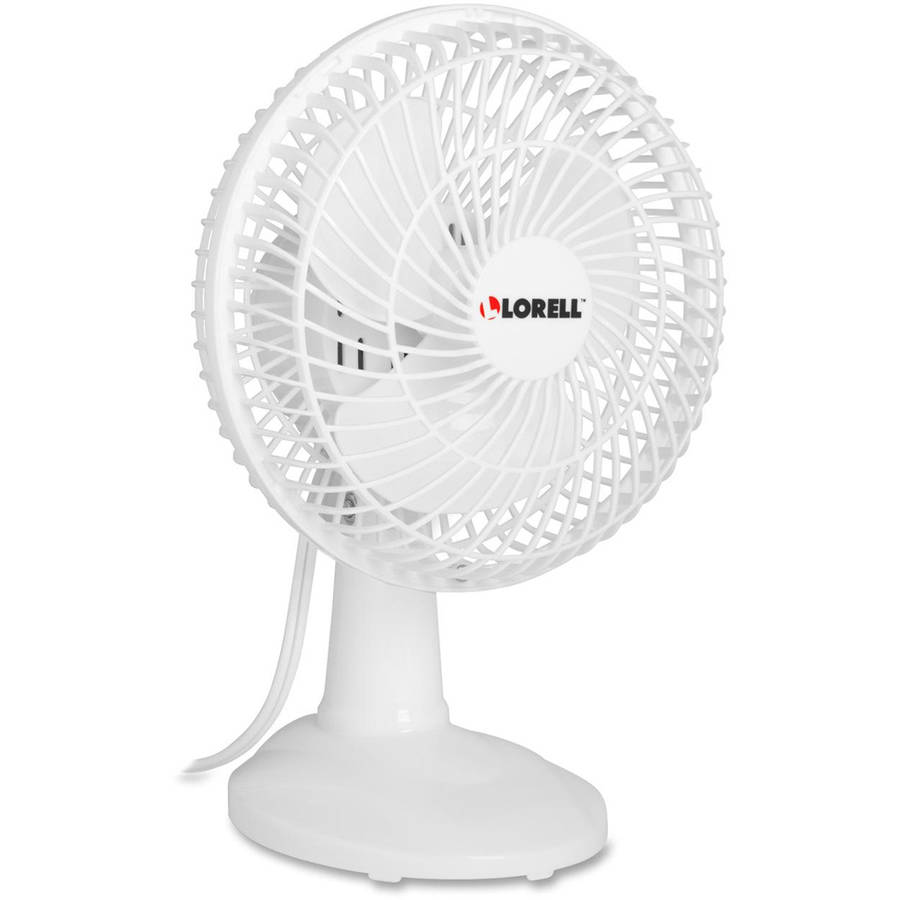 Lorell Desk Fan, White