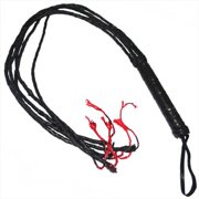 1CATL 46 In. Real Leather Whip & Cat Of Tails