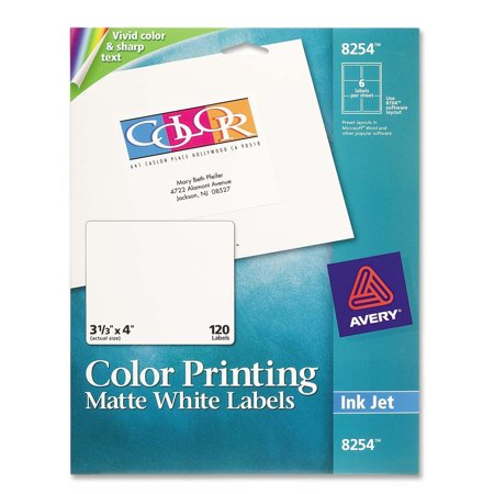 Avery Color Printing Labels