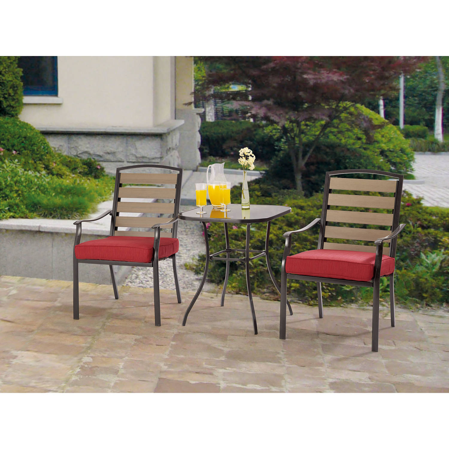 Mainstays Alexandra Square 3-Piece Outdoor Bistro Set Seats 2 - Walmart.com  sc 1 st  Walmart & Mainstays Alexandra Square 3-Piece Outdoor Bistro Set Seats 2 ...