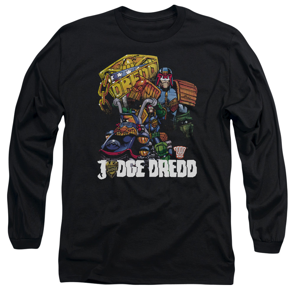 Judge Dredd/Bike And Badge   L/S Adult 18/1   Black     Jd112