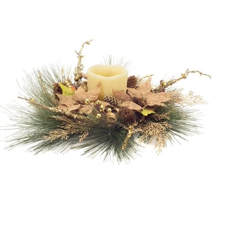 Gold Christmas Candle - 19