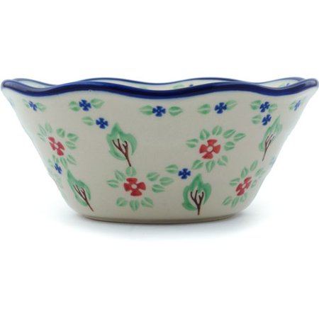 Polmedia Falling Leaves Fluted Rice Bowl