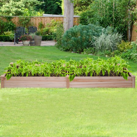 Wooden Vegetable Raised Garden Bed Backyard Patio Grow Flowers Plants Planter - image 3 of 5