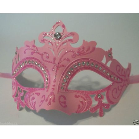 Hot Pink Princess Venetian Crystal Mardi Gras Masquerade Mask Prom Ball