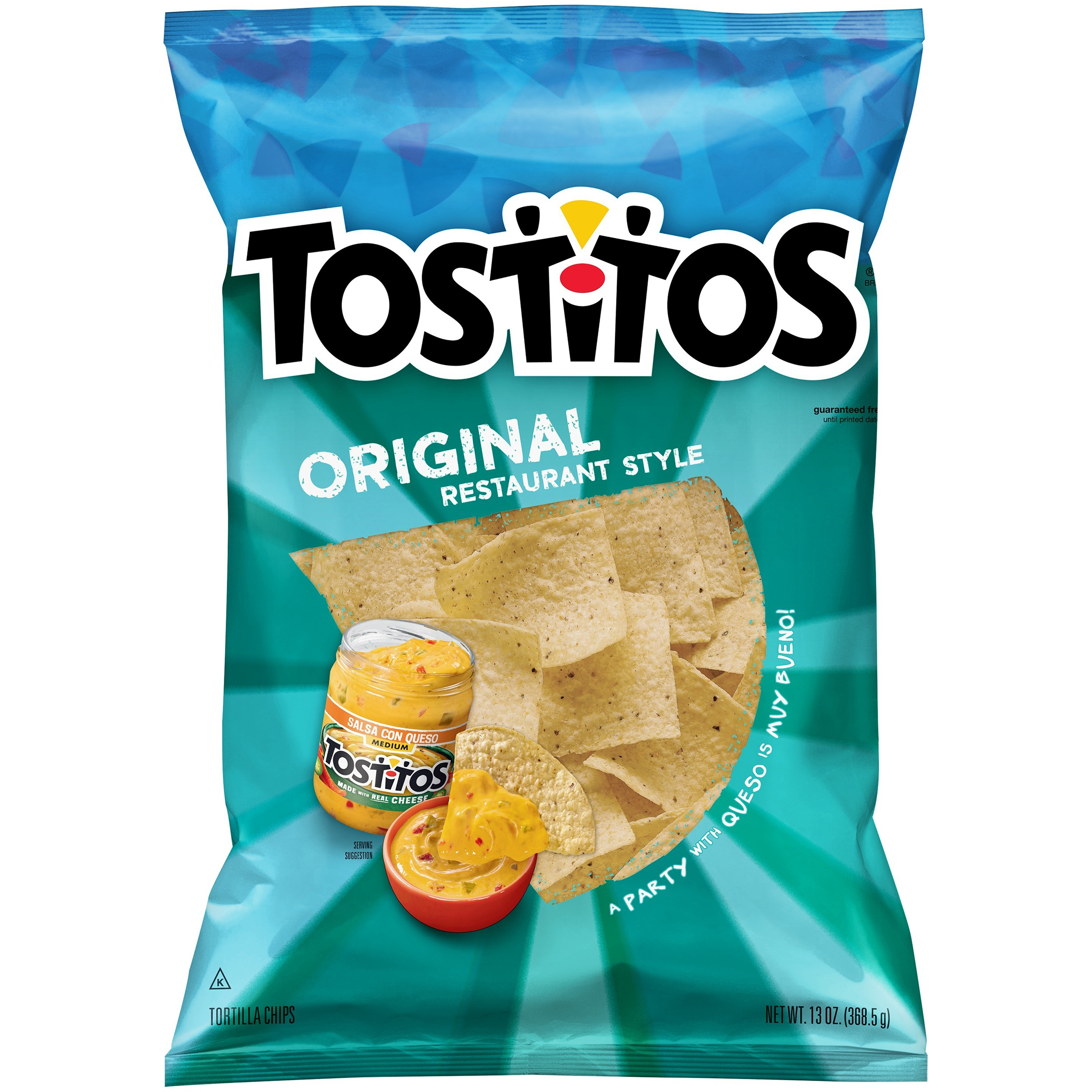 Tostitos Original Restaurant Style Tortilla Chips, 13 oz Bag