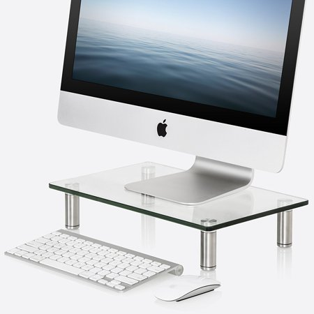 FITUEYES Computer Monitor Riser Desktop Stand with keybroad storage space DT103801GC
