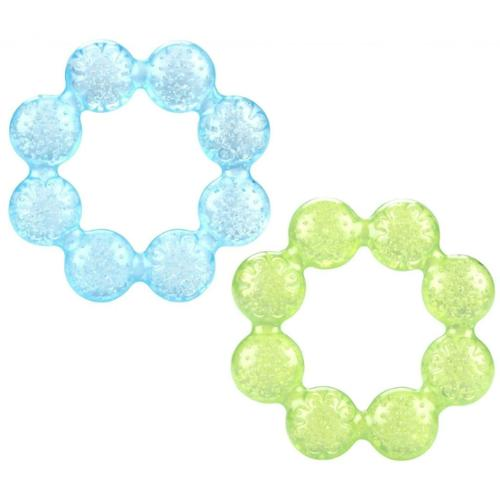 Nuby Pur Ice Bite Soother Ring Teether, 2 Pack - Blue/Green