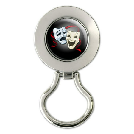 Drama Comedy Tragedy Masks - Acting Theatre Theater Magnetic Metal Eyeglass Badge Holder