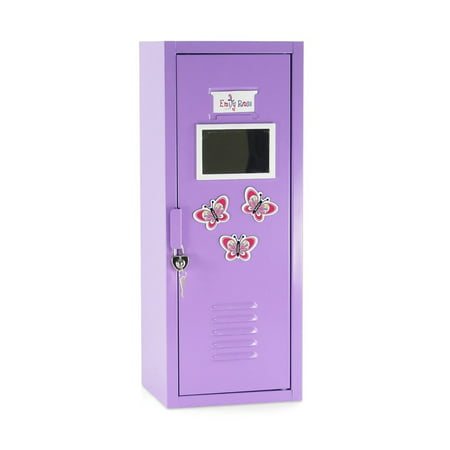 Astonishing 18 Inch Doll Furniture Lavender School Locker Storage Wardrobe With Working Lock And Key 5 Doll Clothes Hangers Magnetized Mirror 3 Butterfly Home Interior And Landscaping Ologienasavecom