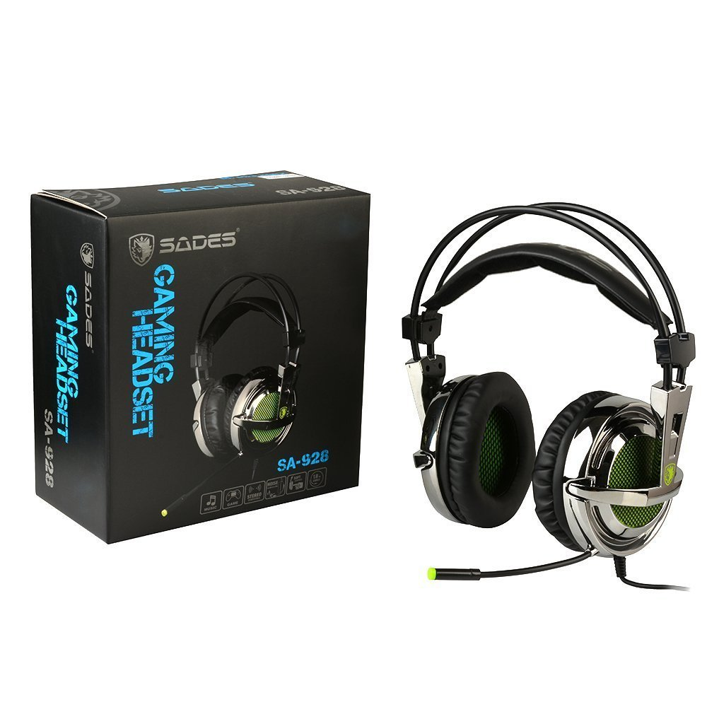 Sades SA-928 Stereo Lightweight PC Gaming Headphones/Headset, 3.5 mm Jack with Mic for Laptop PC/MAC