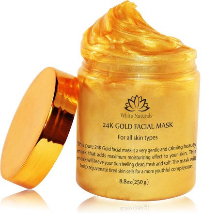 24K Gold Facial Mask By White Naturals:Rejuvenating Anti-Aging Face Mask For Flawless Skin-Reduces Fine Lines,Clears Acne, Minimizes Pores, Moisturizes And Firms Up Your Facial Skin](Farm Masks)