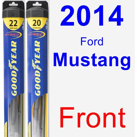 Mustang Wiper Parts (2014 Ford Mustang Wiper Blade Set/Kit (Front) (2 Blades) -)